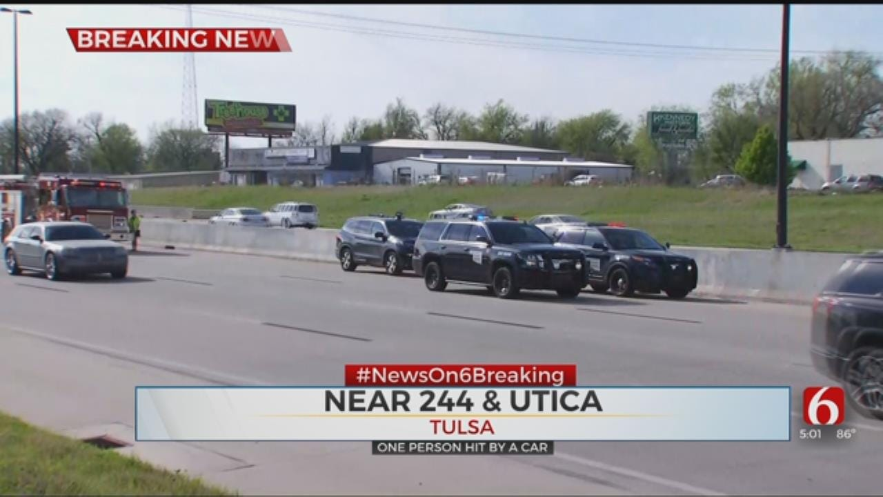Pedestrian Hit By At Least One Car On Interstate 244 In Tulsa