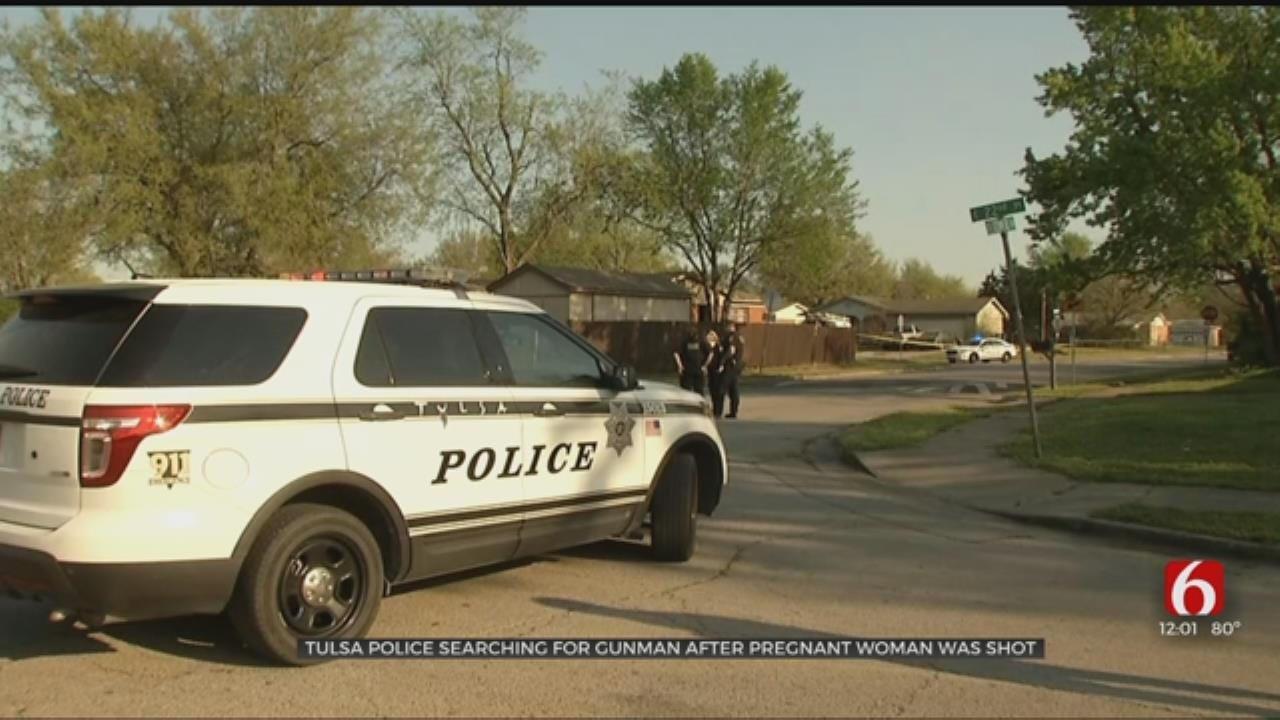 Suspect At Large After Pregnant Woman Shot, Tulsa Police Say