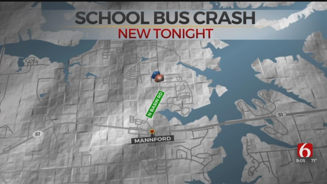 Mannford School Bus Driver Slams Into Another Bus