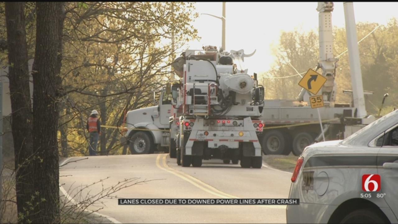 Suspected DUI Crash Causes Tulsa Lane Closures