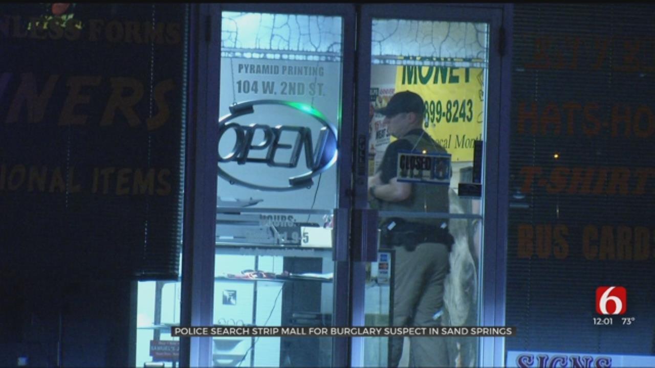 Sand Springs Burglary Suspect Captured On Roof Of Plumbing Business