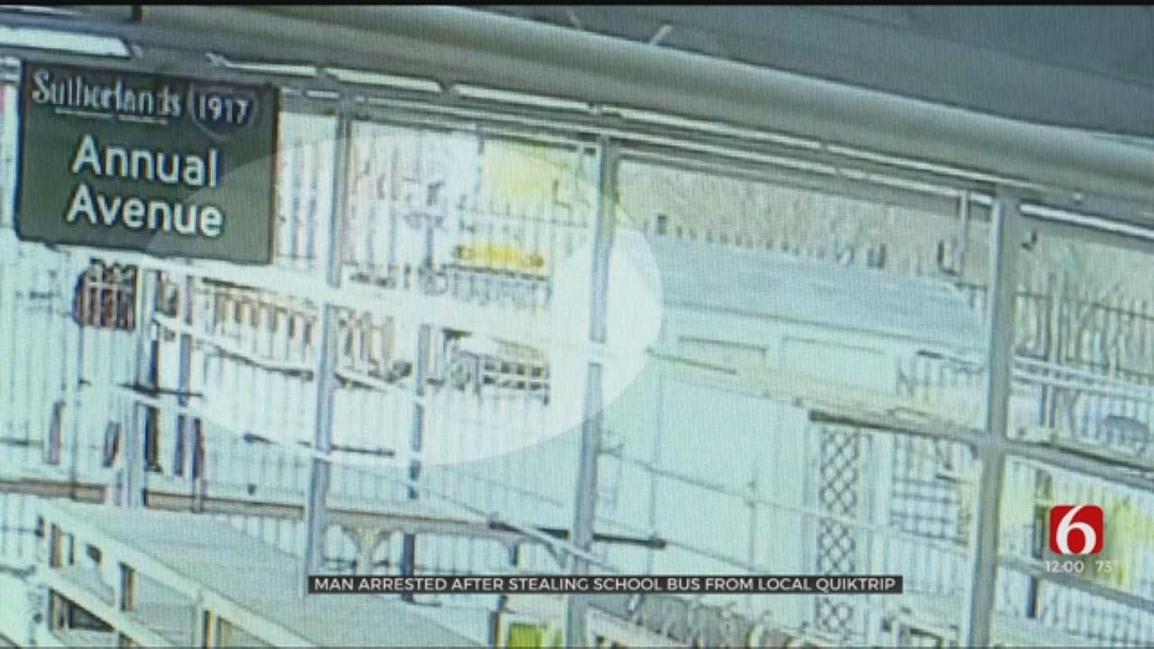 Man Steals Schools Bus From QuikTrip, Tulsa Police Say