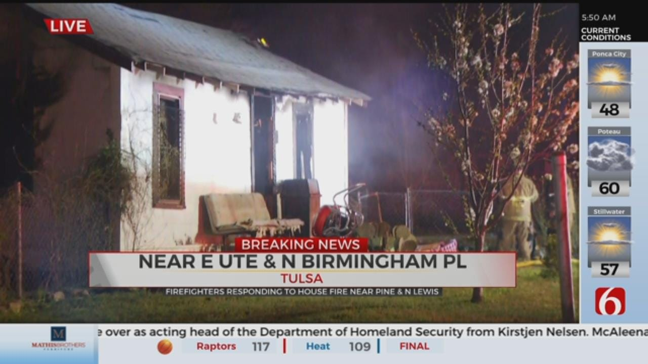Tulsa Firefighters Respond To House Fire