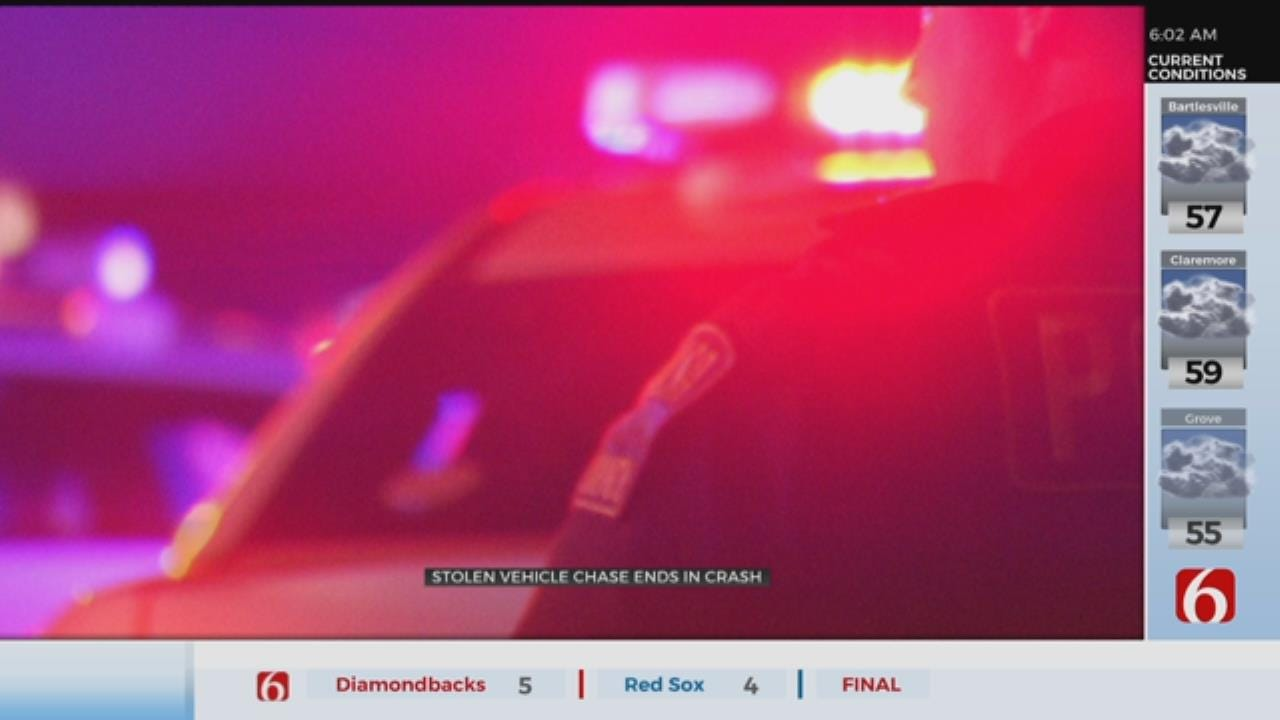 Police Chase Ends In Crash In Catoosa