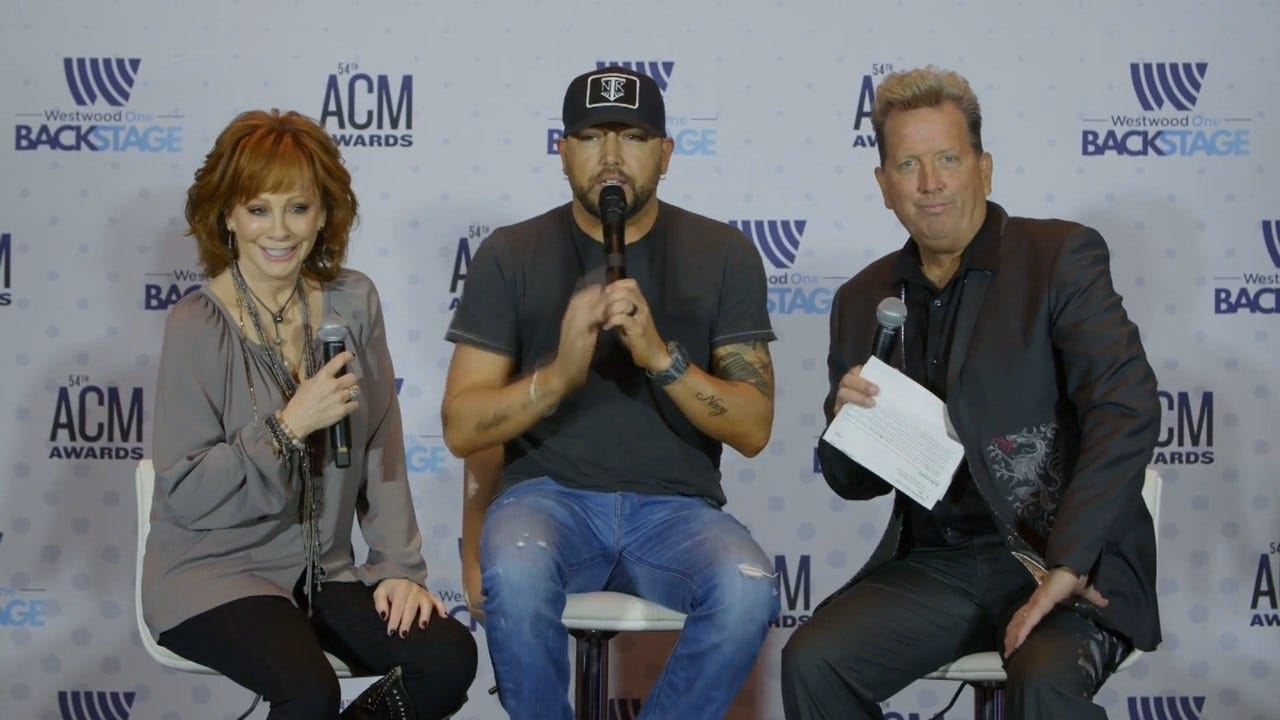 WATCH: Reba McEntire & Jason Aldean Talk American Country Music Awards