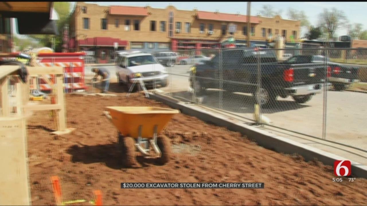 $20,000 Excavator Stolen From Cherry Street, Contractor Says