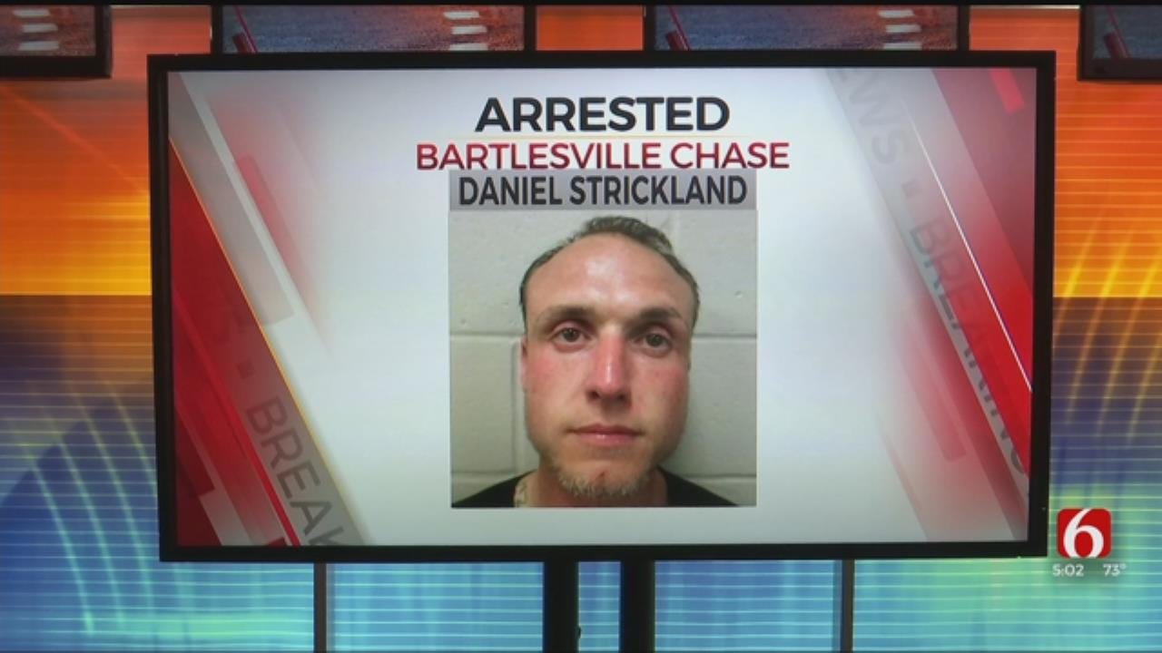Police: Bartlesville Man Tries To Run From The Law, Ends Up In Jail