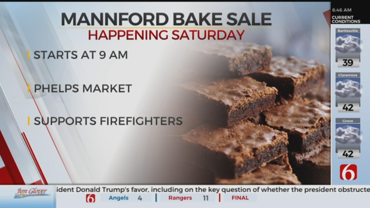 Mannford Bake Sale Supports Local Fire Departments