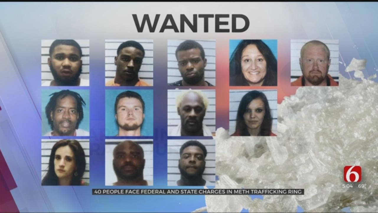 40 People Facing Charges In Muskogee County Meth Trafficking Ring
