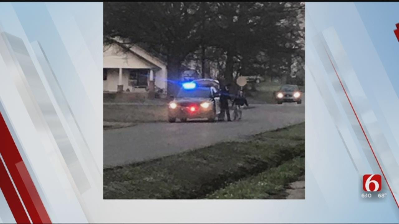 WATCH: Wagoner Law Enforcement Buys Middle School Student A New Bike