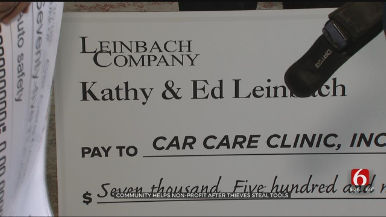 Community Raises Funds To Replace Stolen Tools For Car Care Clinic