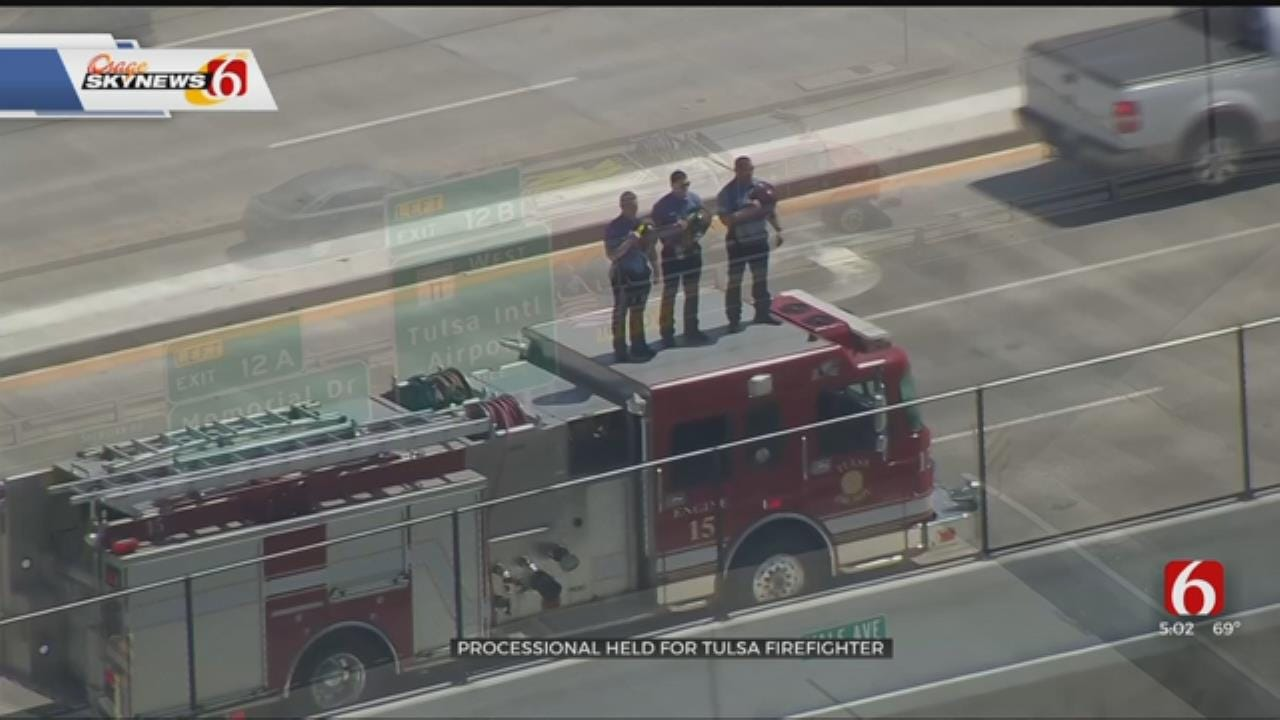 Fallen Tulsa Firefighter Honored With Escort To Claremore