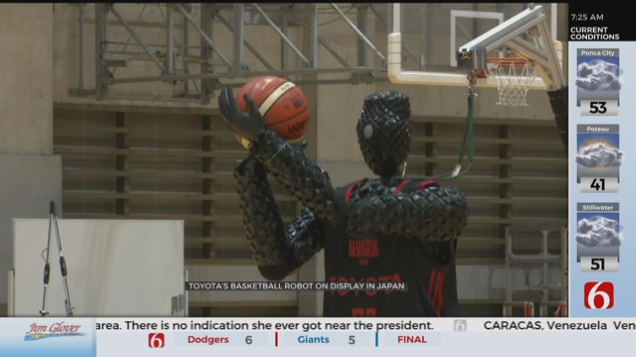 Basketball-Shooting Robot Sinks Several 3-Pointers