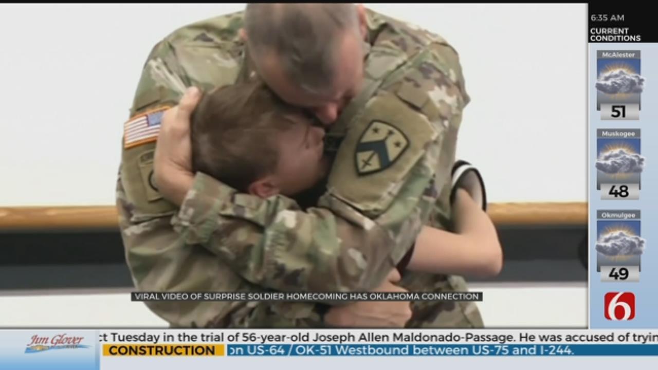 Viral Soldier Homecoming Video Family Has Oklahoma Ties