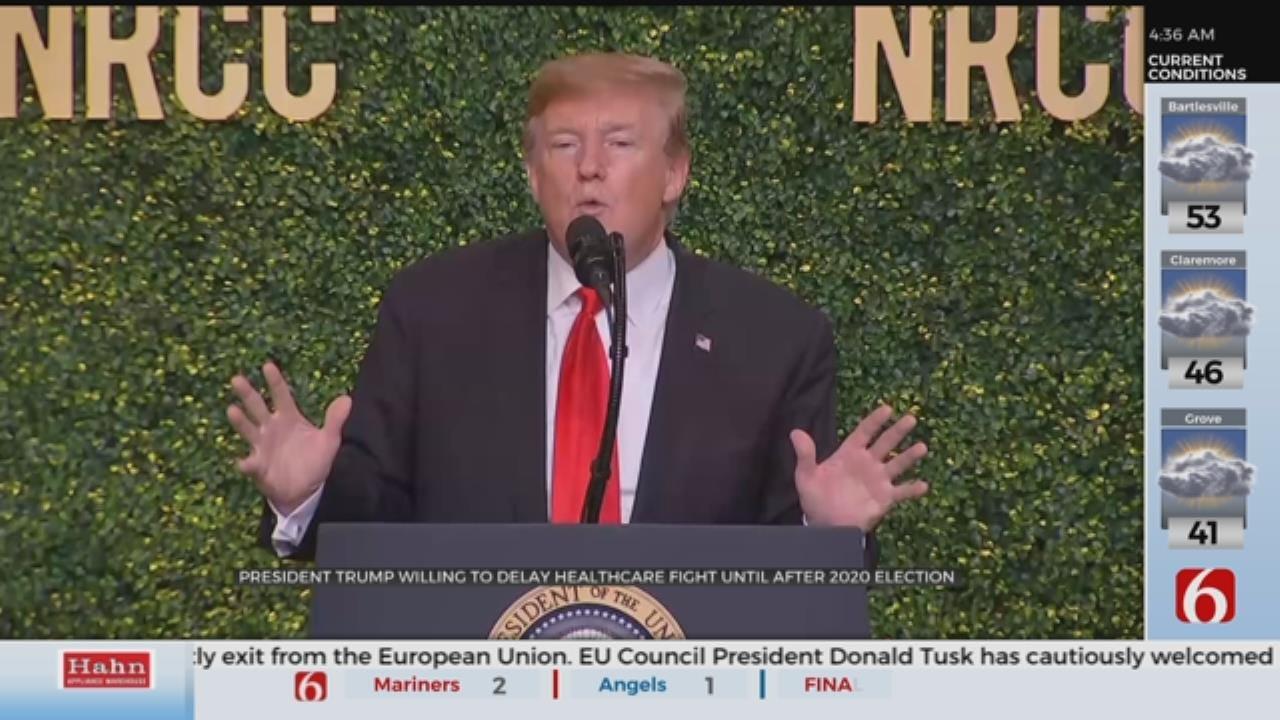 President Trump Talks Healthcare, 2020 Election At Fundraiser