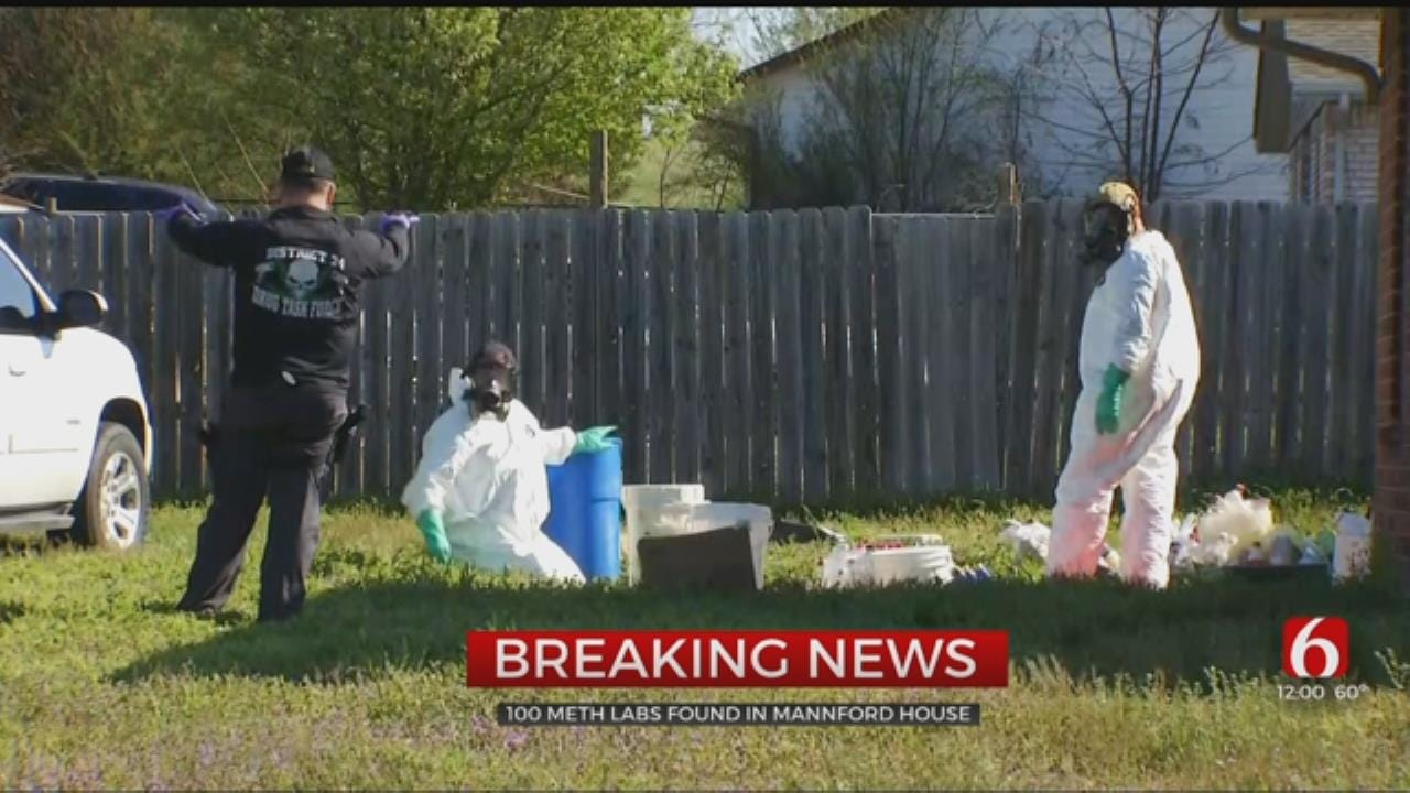Over 100 Meth 'Reaction Vessels' Found In 1 House, Mannford Police Say