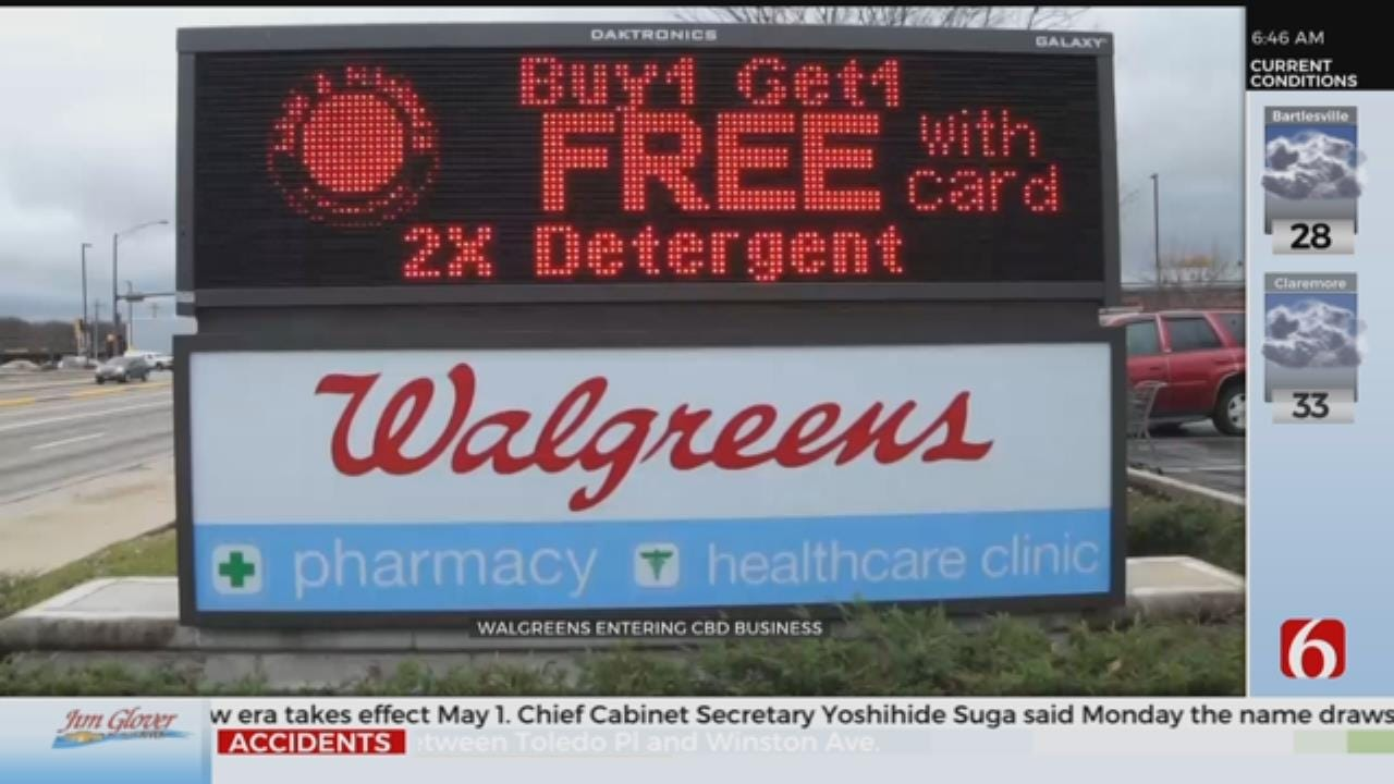 Walgreens To Begin Selling CBD Products In Some States
