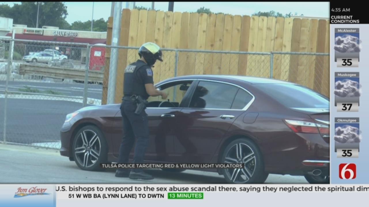 Tulsa Police Red Light Enforcement Starts