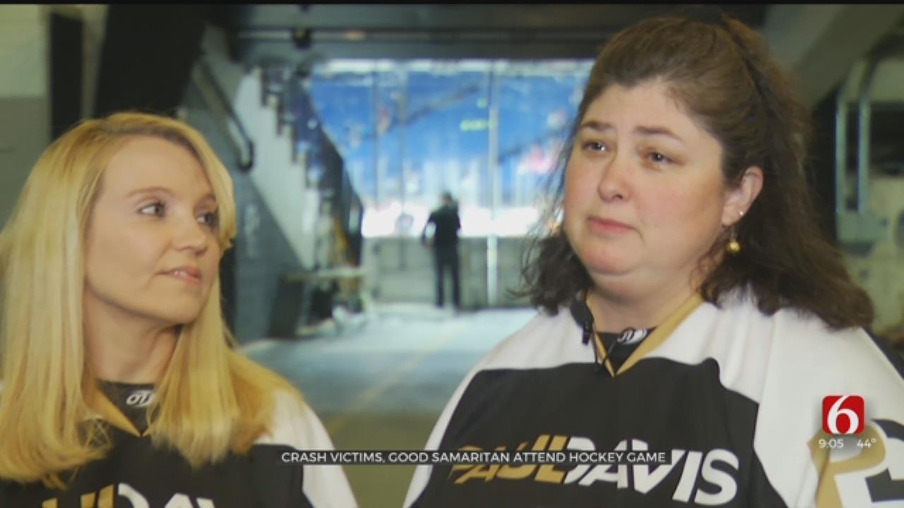 Crash Victims, Good Samaritan Reunite At Tulsa Oilers Hockey Game
