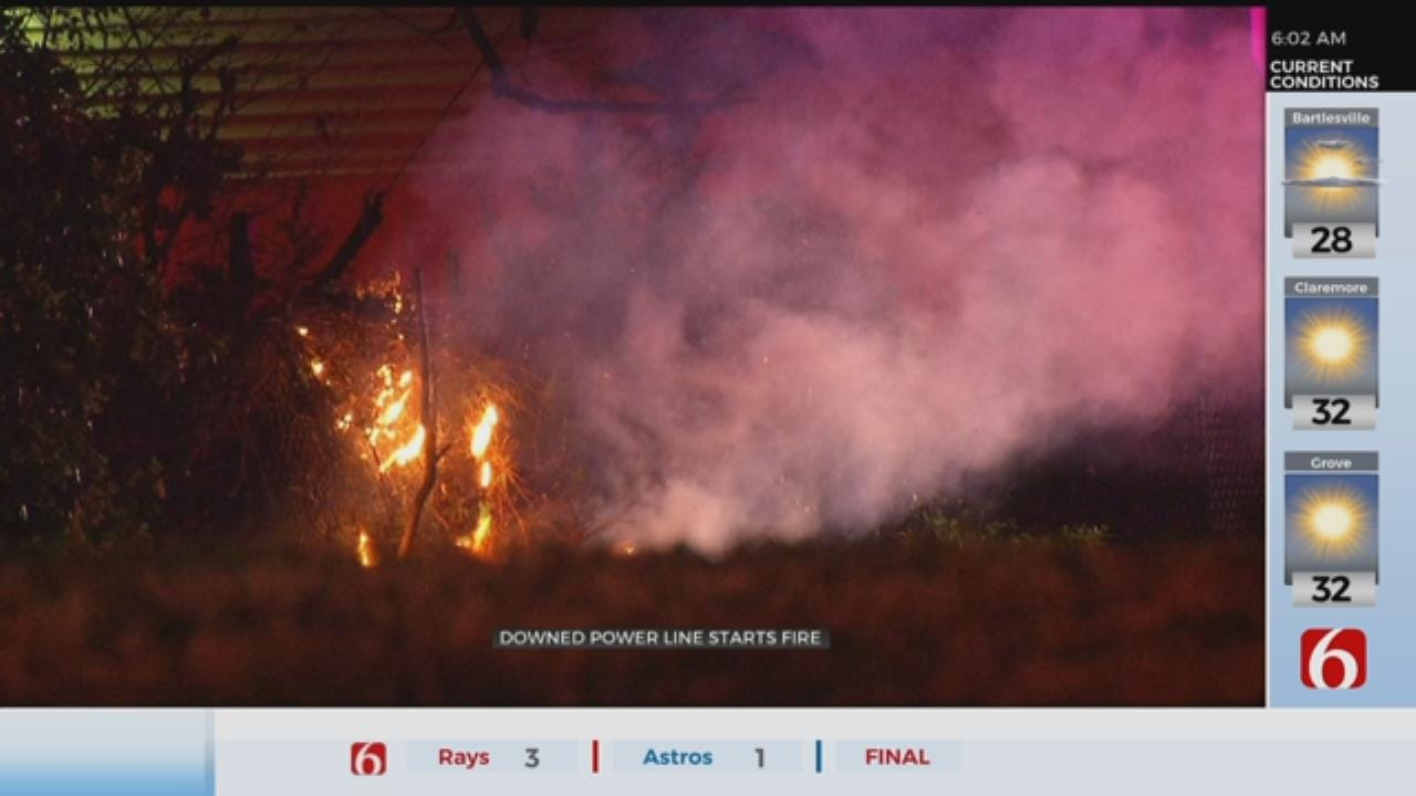 Downed Power Line Nearly Causes House Fire