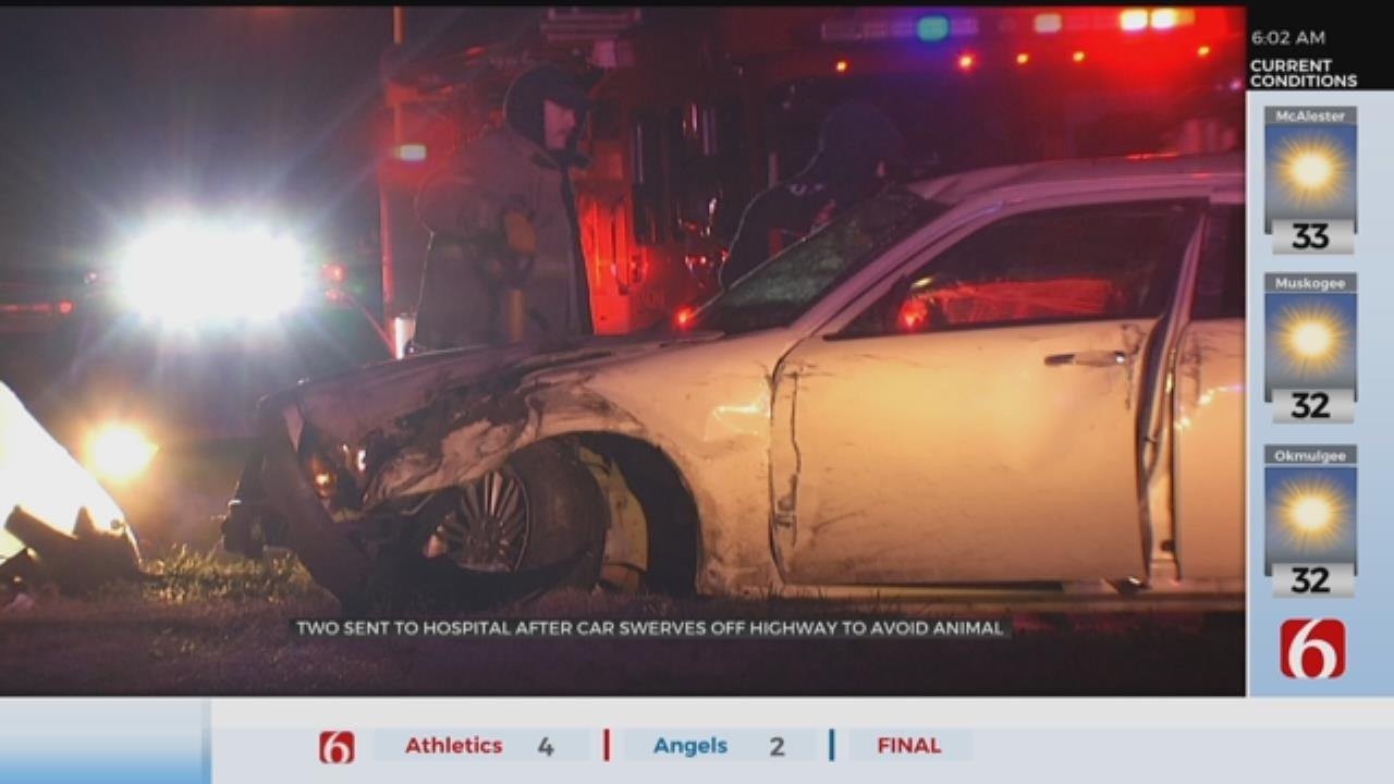 2 Sent To Hospital After Highway Crash in Tulsa