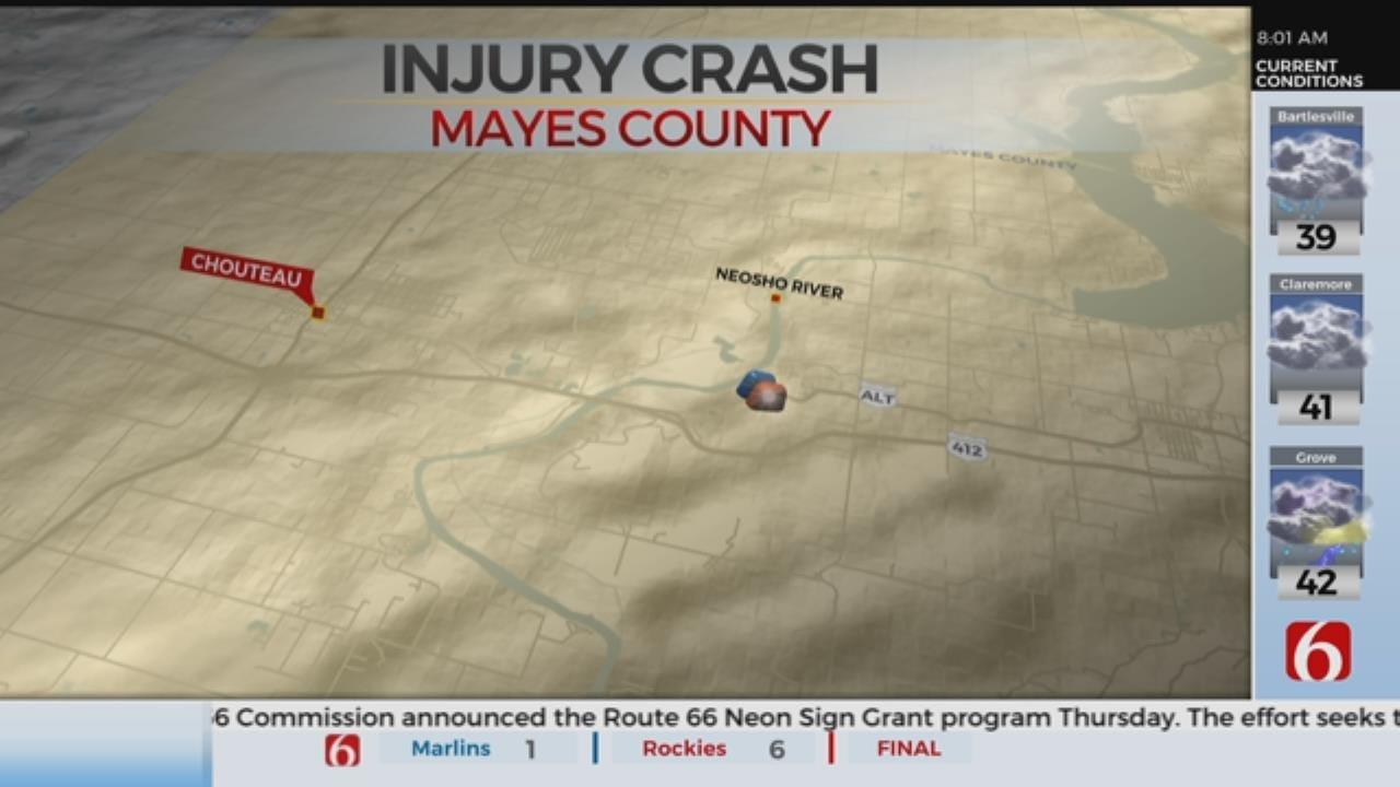 2 Hospitalized After Mayes County Crash