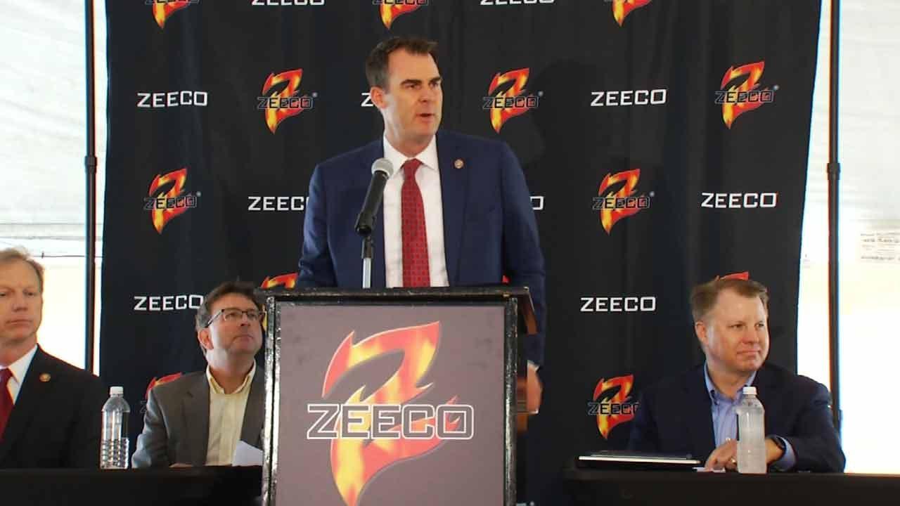 Governor Stitt Celebrates Zeeco Business Anniversary In Broken Arrow