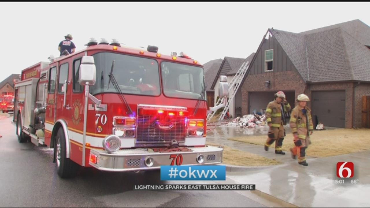Lightning Sparks East Tulsa House Fire