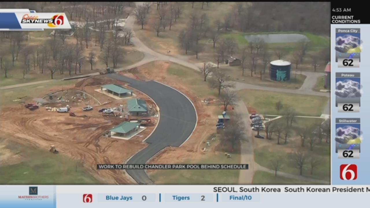 Chandler Park Splash Pad Construction Behind schedule