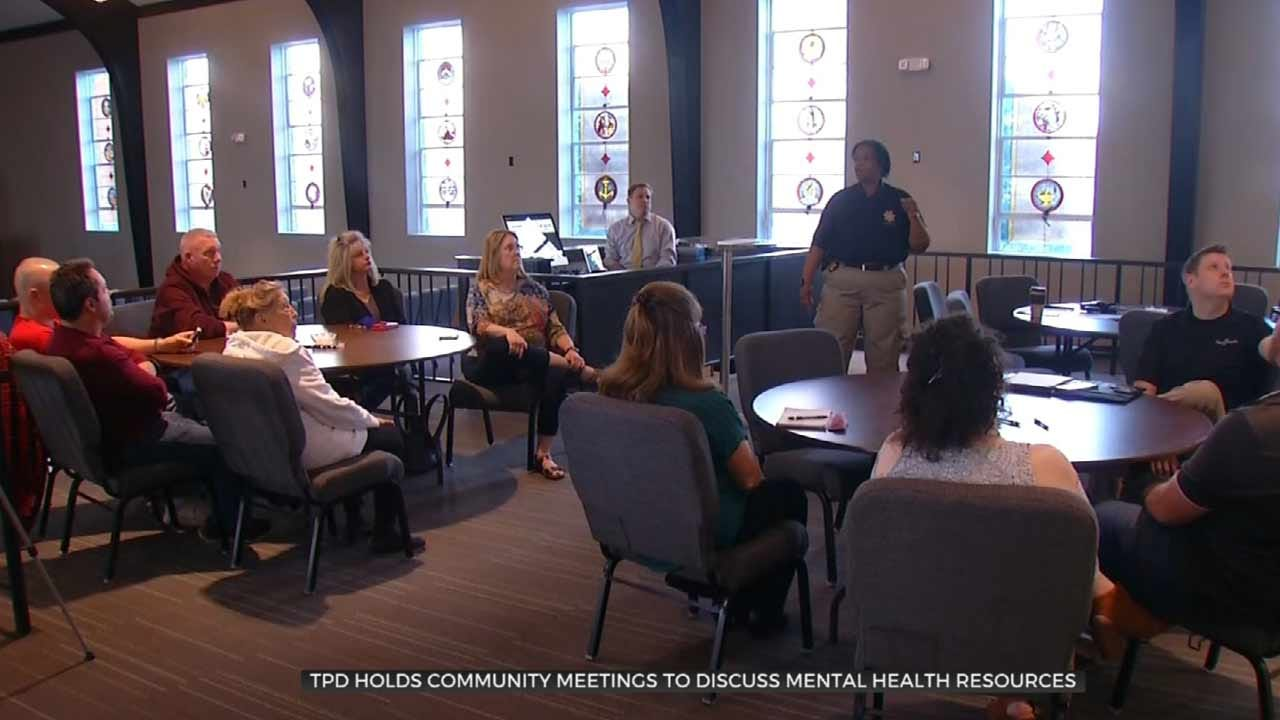 Tulsa Police Hold Discussions On Mental Health Crisis Resources
