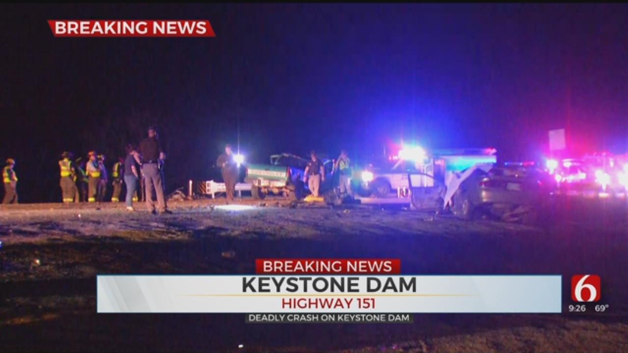 Keystone Dam Closed By Fatal Wreck, OHP Says