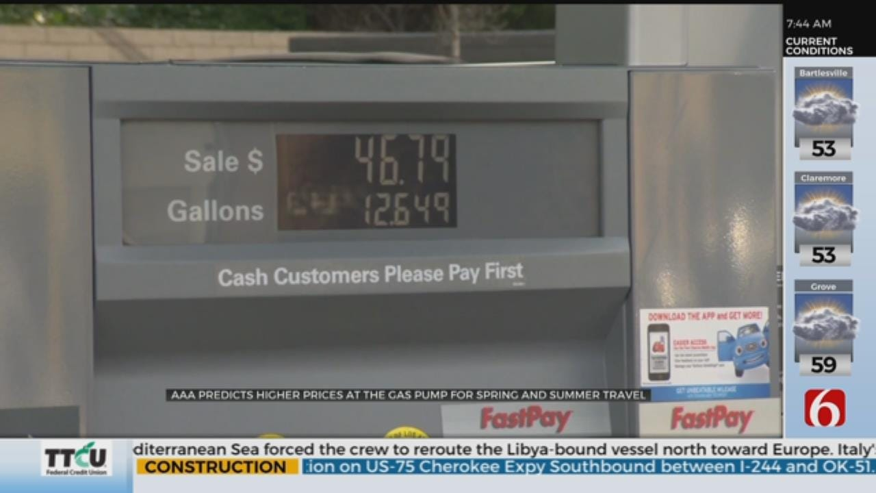 AAA Says Gas Prices On The Rise