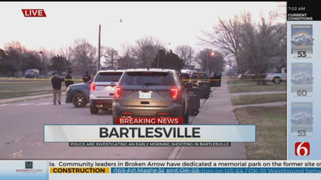 Bartlesville Police Investigate Shooting, 1 Person Injured