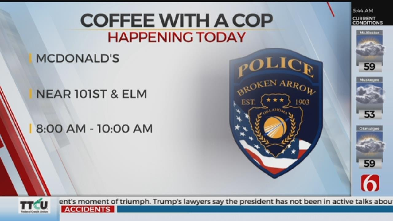 2 Police Departments Holding 'Coffee With A Cop' Events