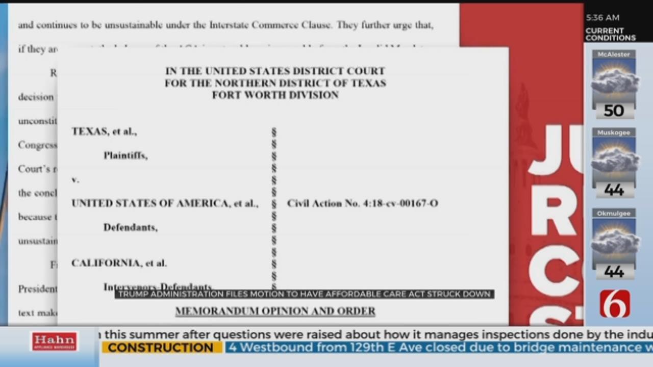 Trump Administration Files Brief To Invalidate Obamacare