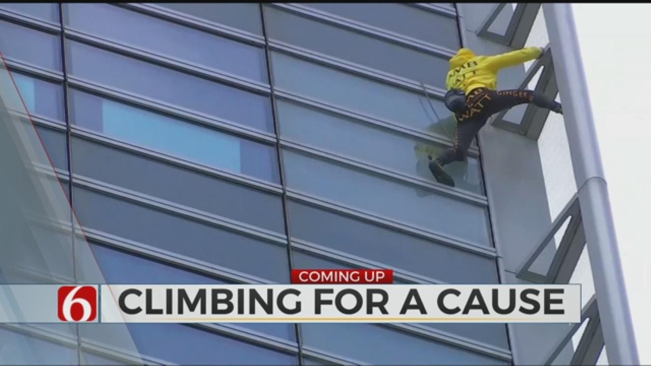 Real Life Spider-Man Climbs Building For Good Cause