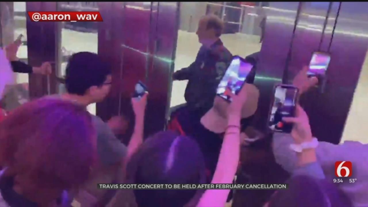 Rapper Travis Scott Returns To BOK Center After Canceled Show