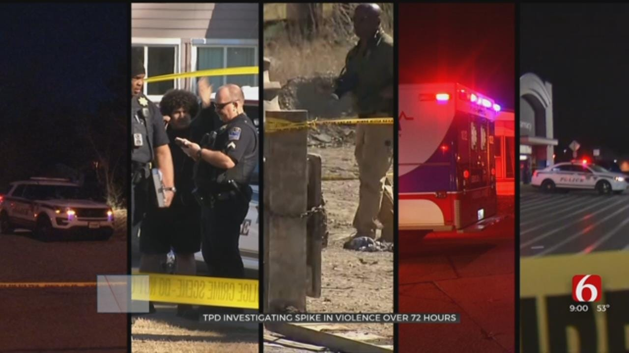 TPD Investigating Spike In Violence Over 72 Hours