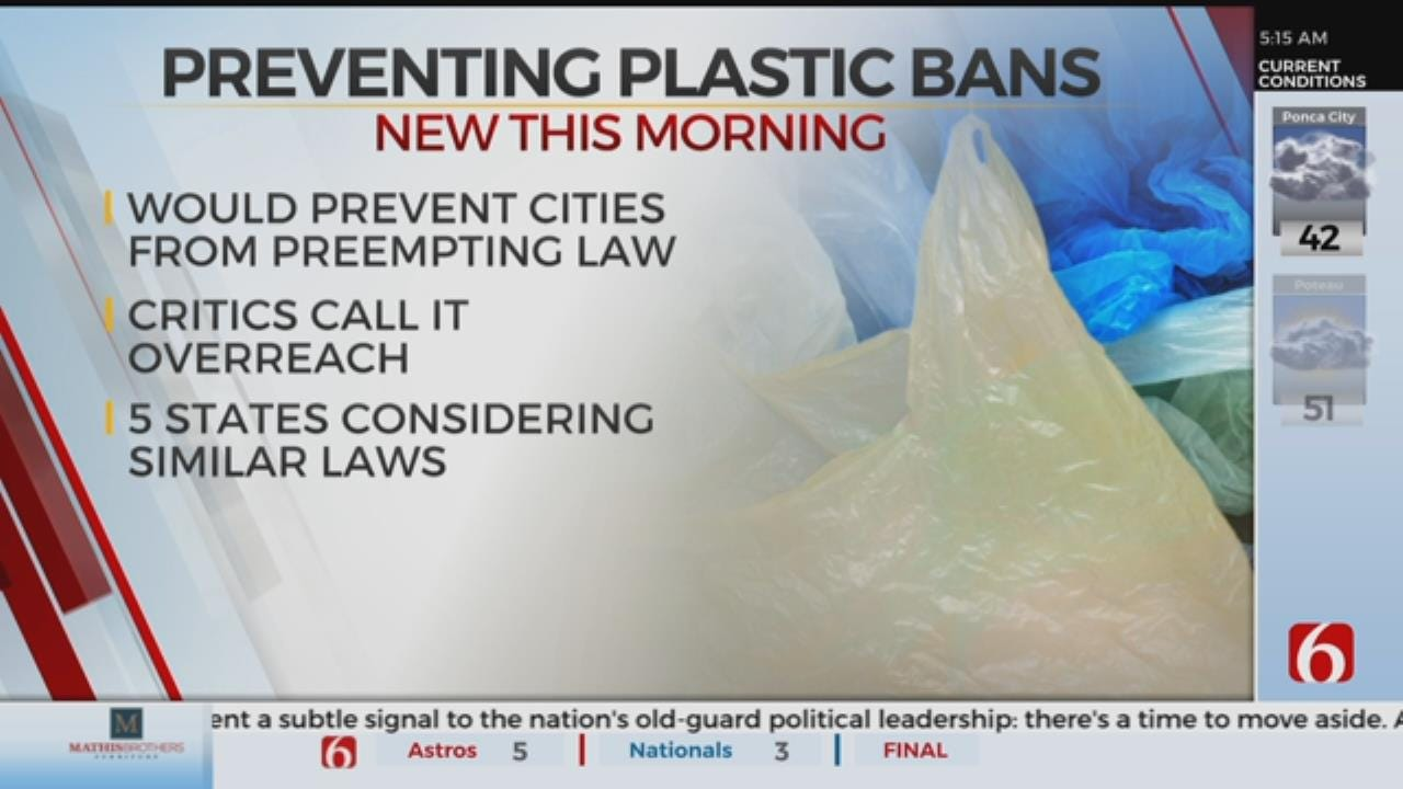 Oklahoma Lawmakers Consider Banning Plastic Bag Fees