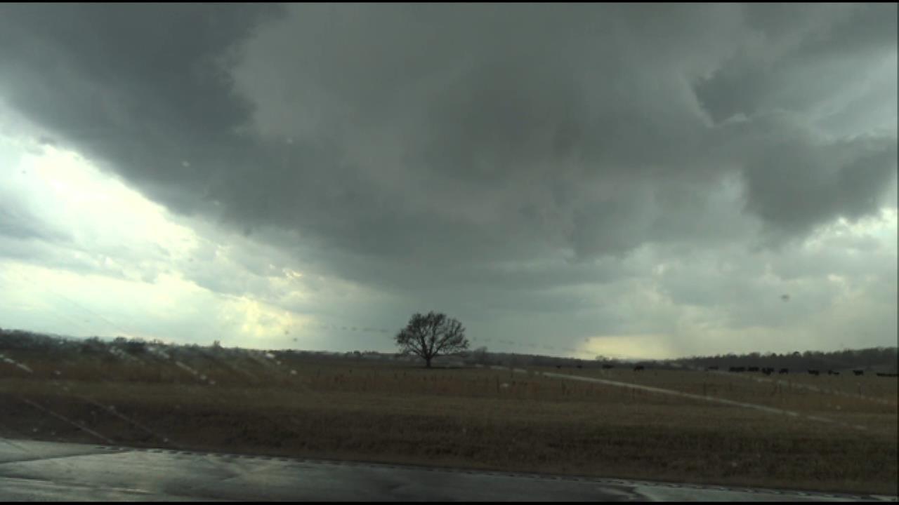 WATCH: Wall Cloud Near McCurtain, Oklahoma