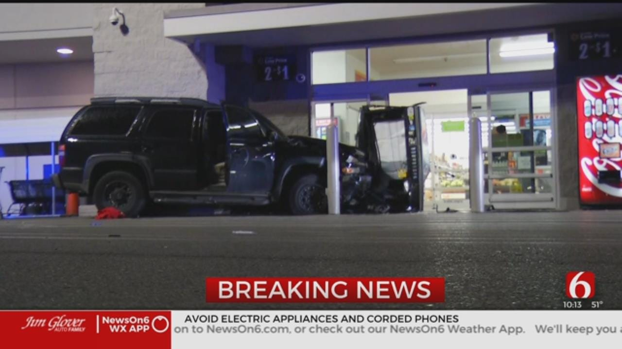 Tulsa Police: Gunshot Victim Dies After Hitting Walmart With SUV
