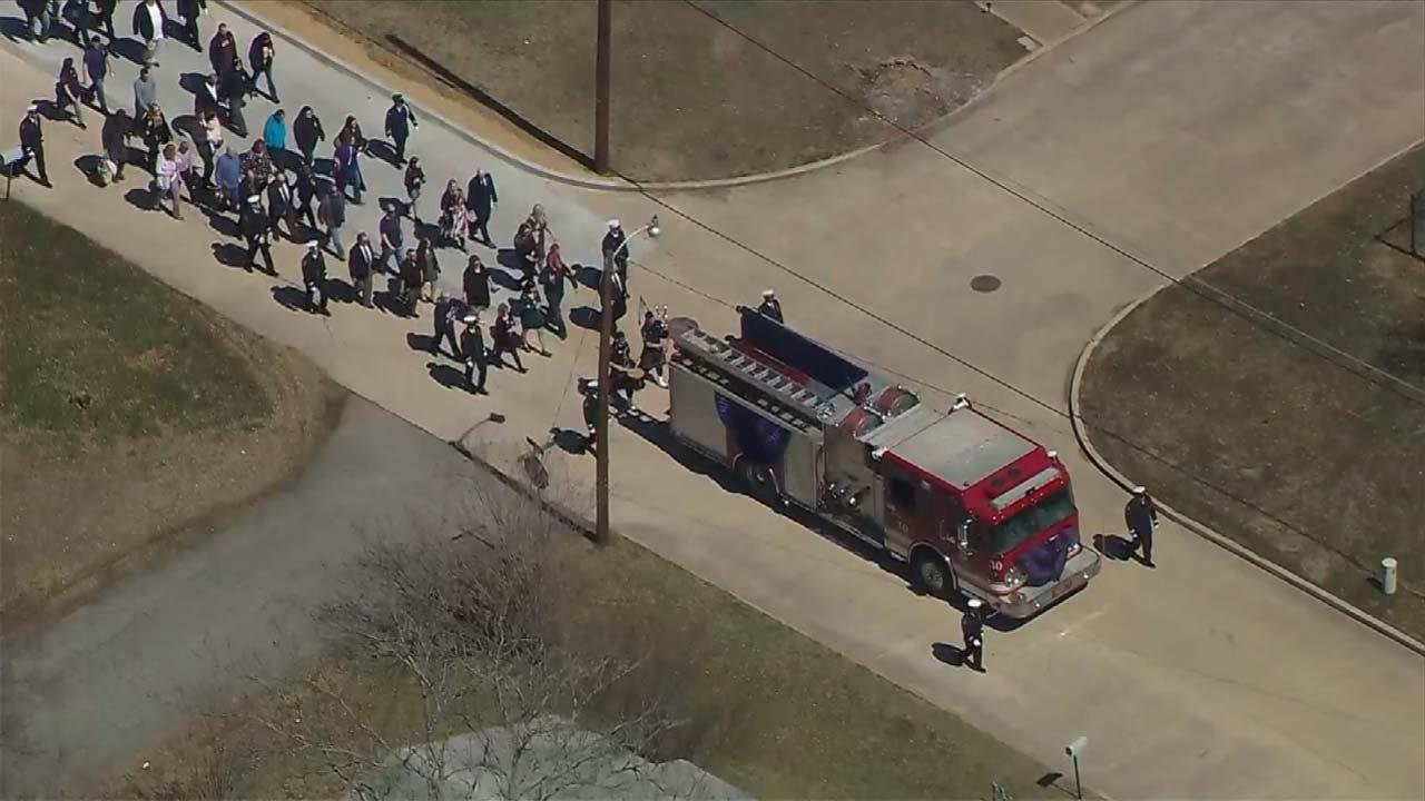 Former Tulsa Firefighter Mark Meyer Laid To Rest
