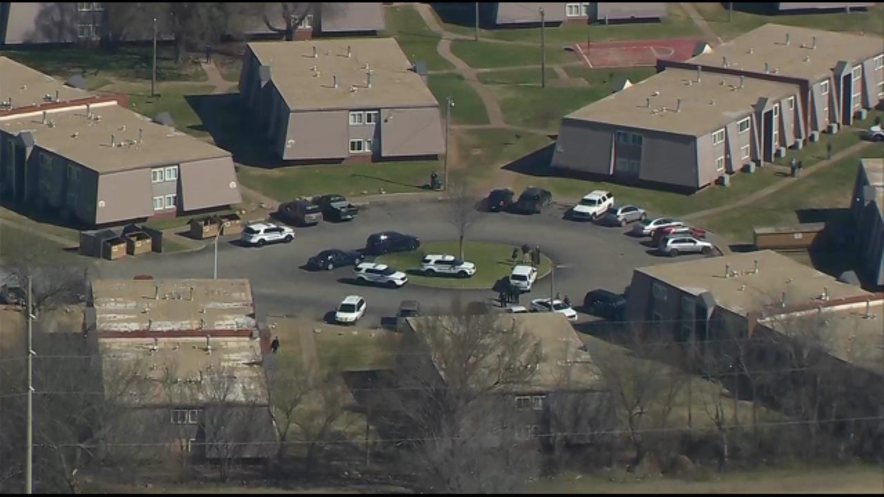 Osage SkyNews 6 HD Flies Over Tulsa Apartment Shooting