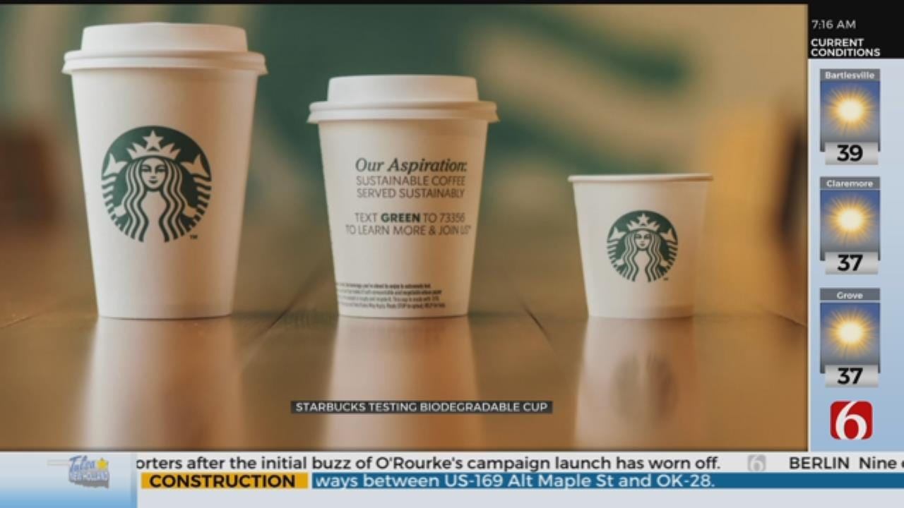 Starbucks Tests Compostable Cup