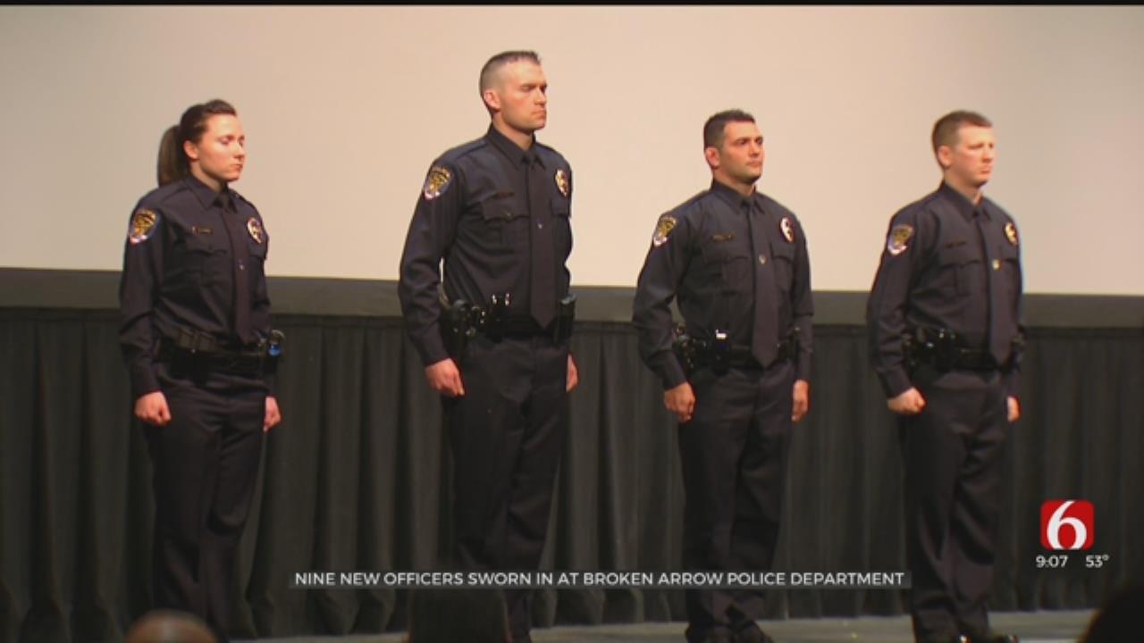 Broken Arrow Police Welcome 9 New Academy Graduates