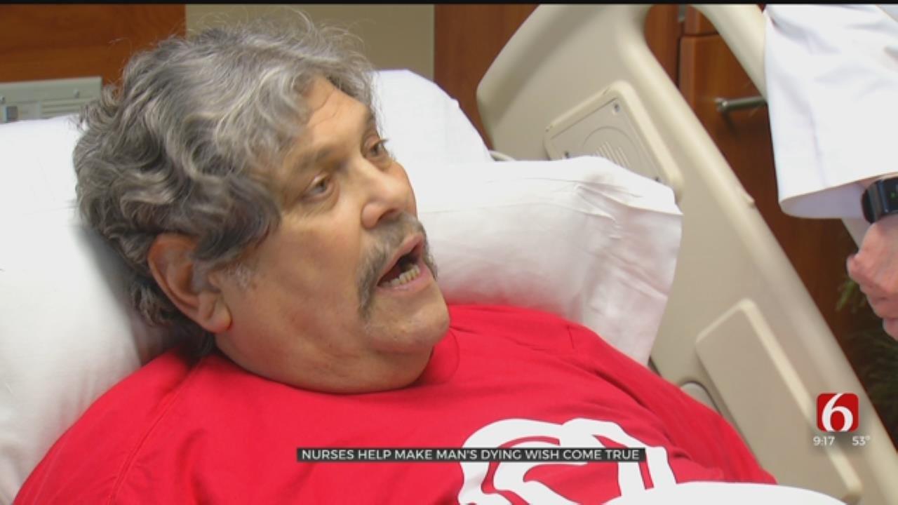 Nurses Help Oklahoma Man's Dying Wish Come True