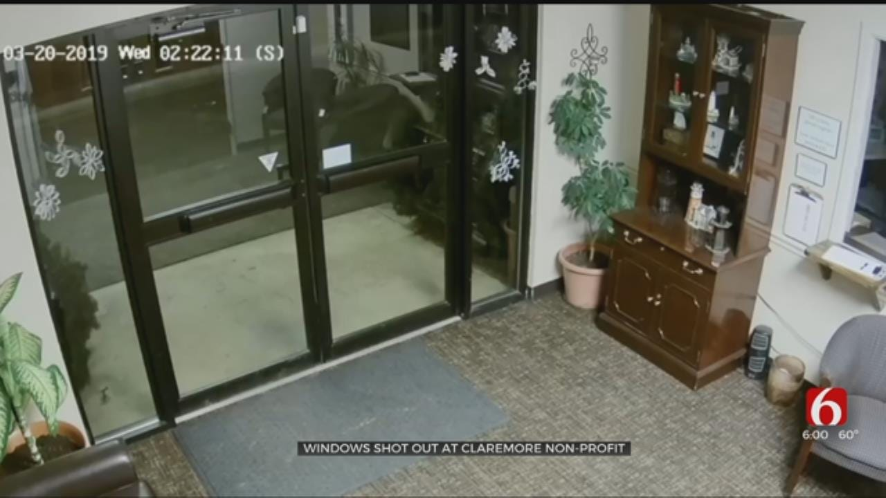 Caught on Camera: Window Of Claremore Non-Profit Shot Out