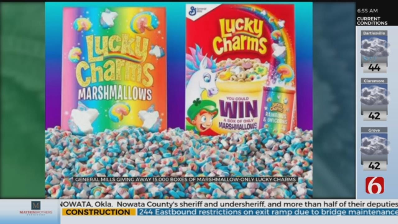 General Mills Is Giving Away 15,000 Boxes Of Marshmallow Only Lucky Charms