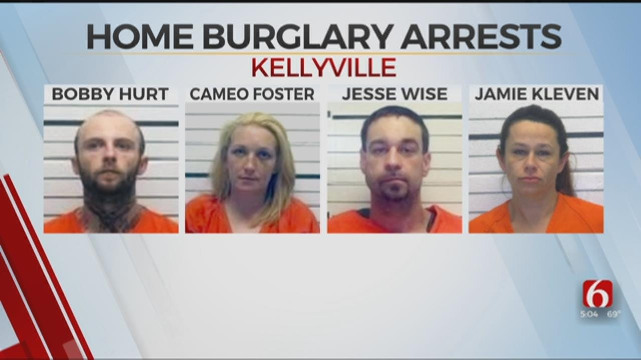 4 Arrested In Kellyville Home Burglary Thanks To Surveillance Video