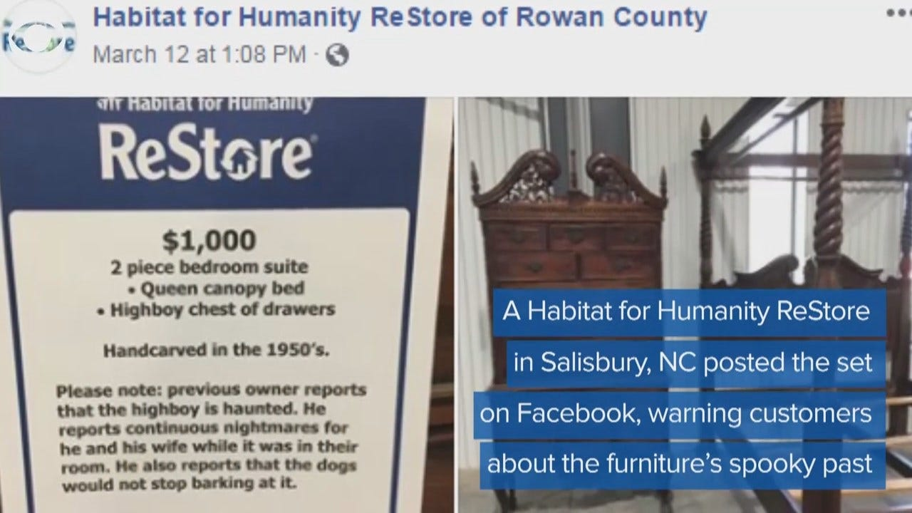 WATCH: 'Haunted' Furniture Finds New Home